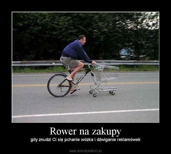 Rower na zakupy – gdy znudzi Ci się pchanie wózka i dźwiganie reklamówek