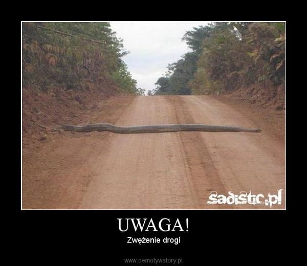 UWAGA! – Zwężenie drogi