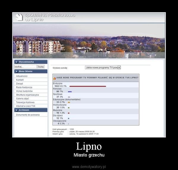 Lipno – Miasto grzechu