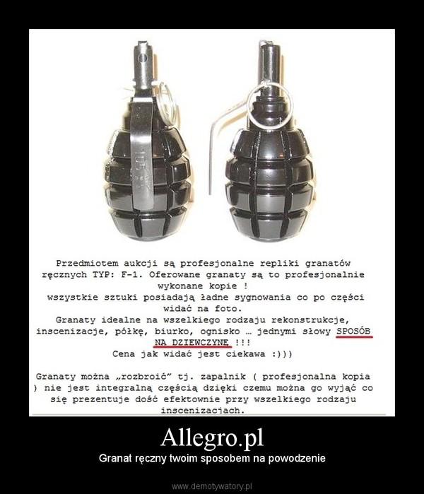 Allegro.pl – Granat ręczny twoim sposobem na powodzenie