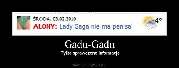 Gadu-Gadu –  Tylko sprawdzone informacje