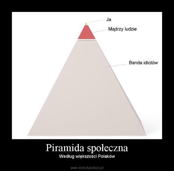 Piramida społeczna – Według większości Polaków