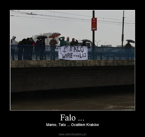 Falo ... – Mamo, Tato ... Ocaliłem Kraków