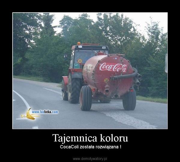 Tajemnica koloru –  CocaColi została rozwiązana !
