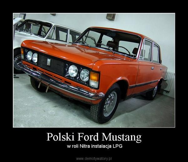 Polski Ford Mustang –  w roli Nitra instalacja LPG