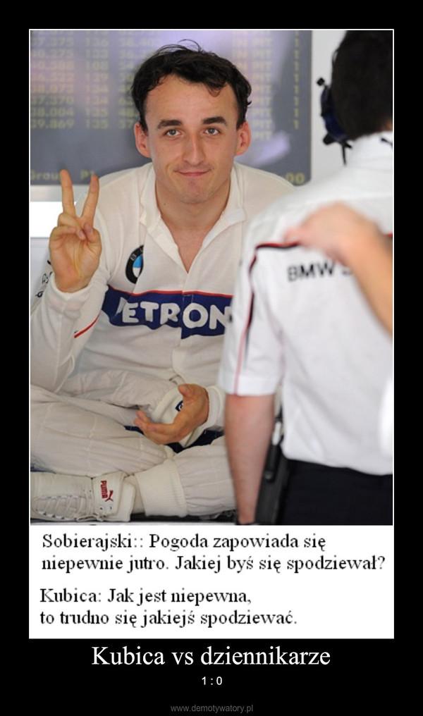 Kubica vs dziennikarze – 1 : 0