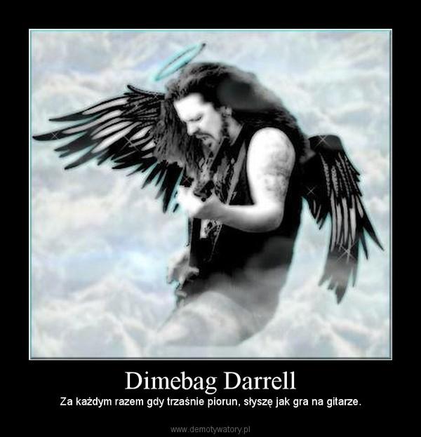 Dimebag Darrell – Za każdym razem gdy trzaśnie piorun, słyszę jak gra na gitarze.