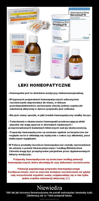 Niewiedza – Nikt tak jak koncerny farmaceutyczne nie potrafi wykorzystać niewiedzy ludzi.Zainteresuj się co Tobie przepisał lekarz.