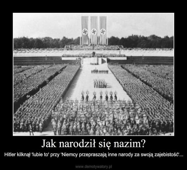 Jak narodził się nazim? – Hitler kilknął 'lubie to' przy 'Niemcy przepraszają inne narody za swoją zajebistość'...