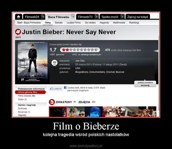 Film o Bieberze – kolejna tragedia wśród polskich nastolatków