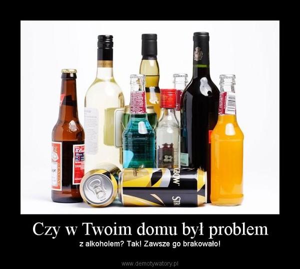 Czy w Twoim domu był problem – z alkoholem? Tak! Zawsze go brakowało!