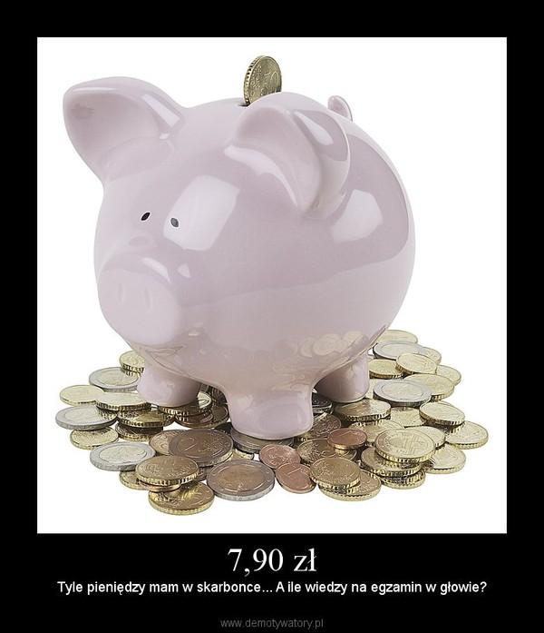 7,90 zł – Tyle pieniędzy mam w skarbonce... A ile wiedzy na egzamin w głowie?