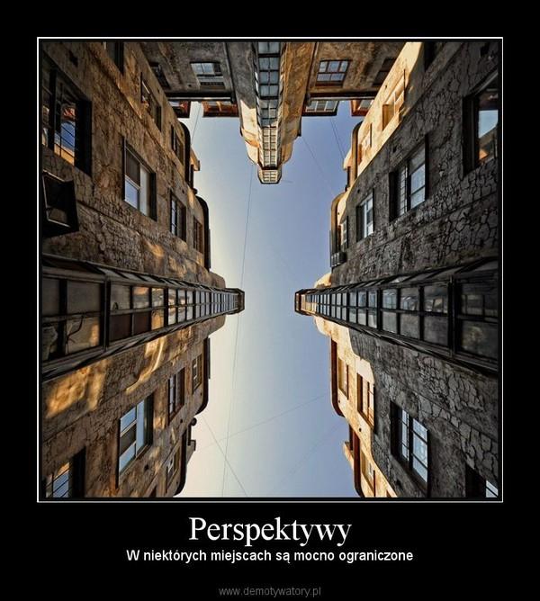 Perspektywy – W niektórych miejscach są mocno ograniczone