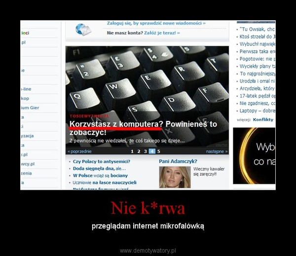 Nie k*rwa – przeglądam internet mikrofalówką