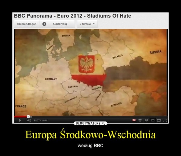 Europa Środkowo-Wschodnia – według BBC