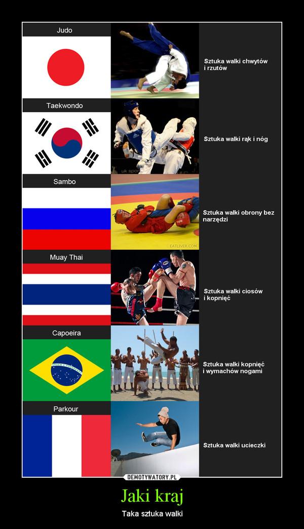 Jaki kraj – Taka sztuka walki