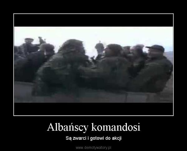 Albańscy komandosi – Są zwarci i gotowi do akcji