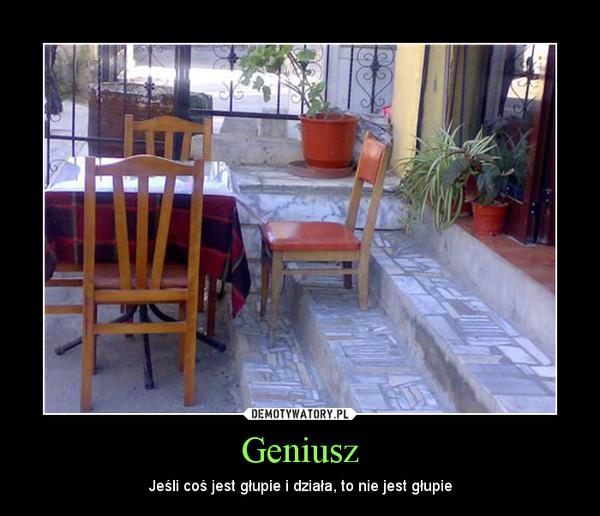 Geniusz – Jeśli coś jest głupie i działa, to nie jest głupie