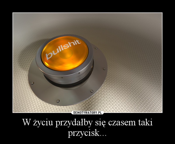 W życiu przydałby się czasem taki przycisk... –