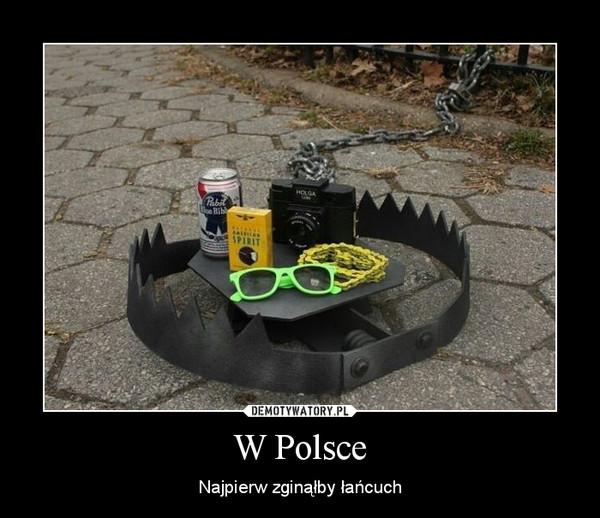 W Polsce – Najpierw zginąłby łańcuch