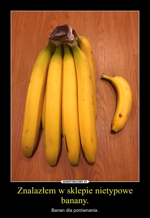 Znalazłem w sklepie nietypowe banany. – Banan dla porównania.