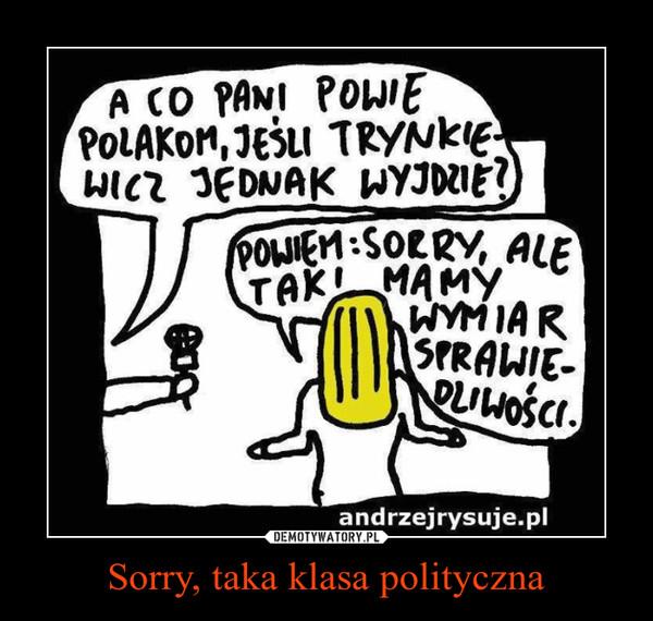 Sorry, taka klasa polityczna –