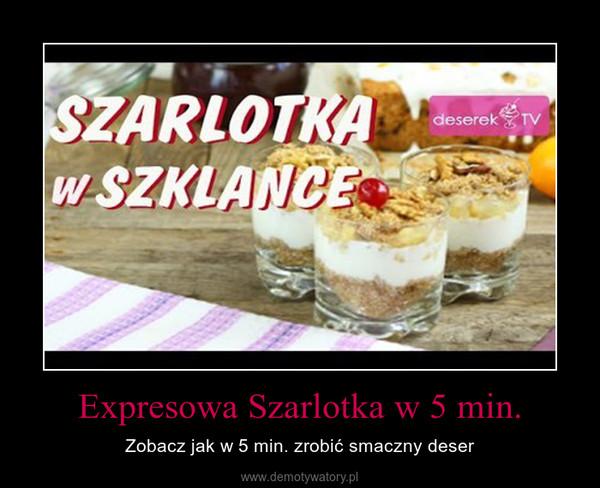Expresowa Szarlotka w 5 min. – Zobacz jak w 5 min. zrobić smaczny deser