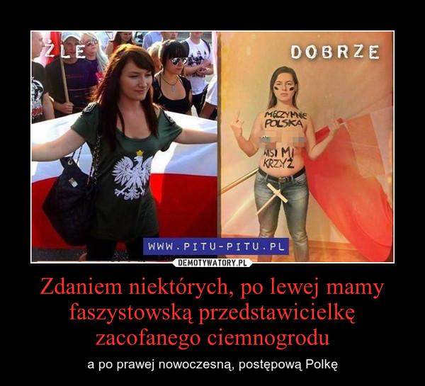 Zdaniem niektórych, po lewej mamy faszystowską przedstawicielkę zacofanego ciemnogrodu – a po prawej nowoczesną, postępową Polkę