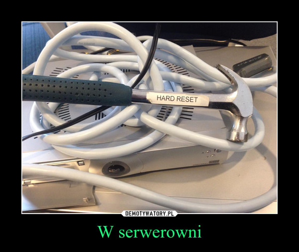 W serwerowni –
