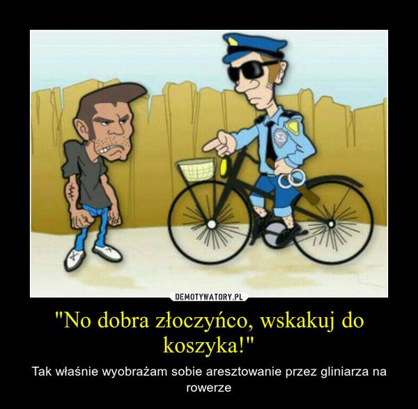 """""""No dobra złoczyńco, wskakuj do koszyka!"""" – Tak właśnie wyobrażam sobie aresztowanie przez gliniarza na rowerze"""