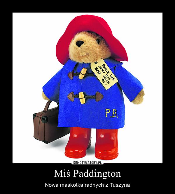 Miś Paddington – Nowa maskotka radnych z Tuszyna