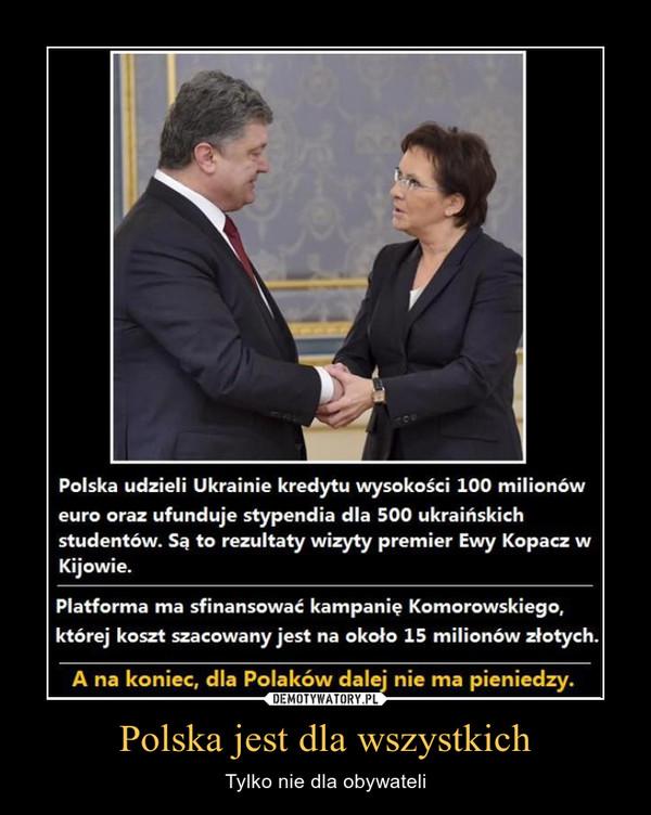 Polska jest dla wszystkich – Tylko nie dla obywateli