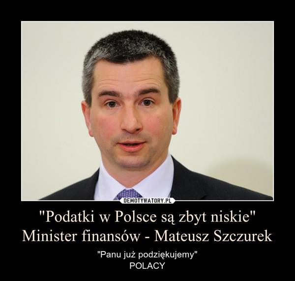 """""""Podatki w Polsce są zbyt niskie""""Minister finansów - Mateusz Szczurek – """"Panu już podziękujemy""""POLACY"""