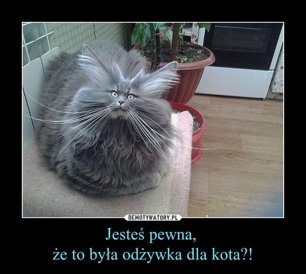 Jesteś pewna, że to była odżywka dla kota?! –
