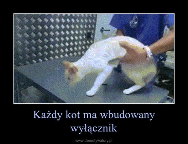 Każdy kot ma wbudowany wyłącznik –