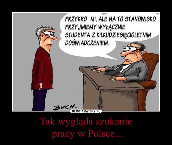 Tak wygląda szukanie pracy w Polsce... –