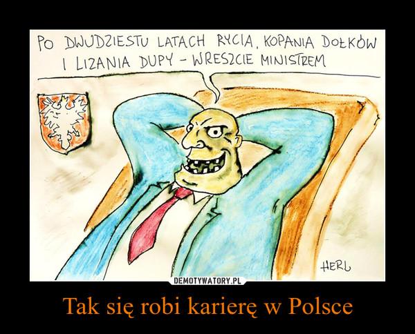 Tak się robi karierę w Polsce –