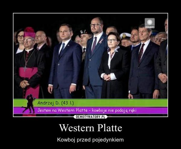 Western Platte – Kowboj przed pojedynkiem