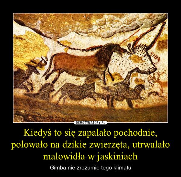 Kiedyś to się zapalało pochodnie, polowało na dzikie zwierzęta, utrwalało malowidła w jaskiniach – Gimba nie zrozumie tego klimatu