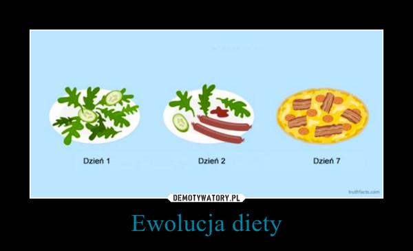 Ewolucja diety –