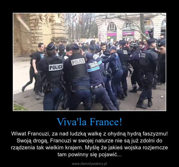 Viva'la France! – Wiwat Francuzi, za nad ludzką walkę z ohydną hydrą faszyzmu! Swoją drogą, Francuzi w swojej naturze nie są już zdolni do rządzenia tak wielkim krajem. Myślę że jakieś wojska rozjemcze tam powinny się pojawić...