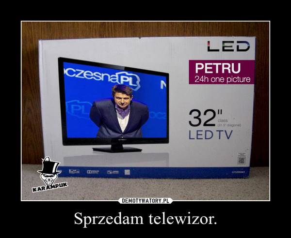 Sprzedam telewizor. –