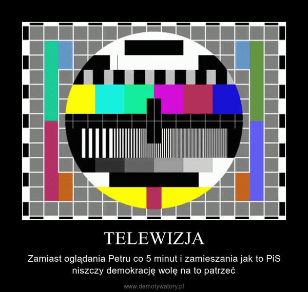 TELEWIZJA – Zamiast oglądania Petru co 5 minut i zamieszania jak to PiS niszczy demokrację wolę na to patrzeć