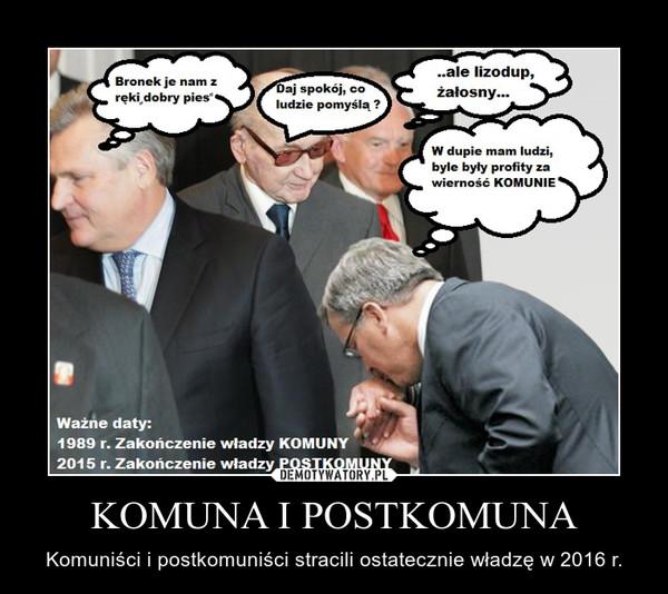 KOMUNA I POSTKOMUNA – Komuniści i postkomuniści stracili ostatecznie władzę w 2016 r.
