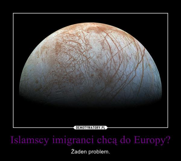 Islamscy imigranci chcą do Europy? – Żaden problem.