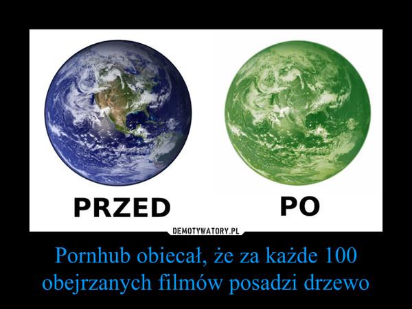 Pornhub obiecał, że za każde 100 obejrzanych filmów posadzi drzewo –