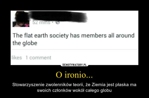 O ironio... – Stowarzyszenie zwolenników teorii, że Ziemia jest płaska ma swoich członków wokół całego globu