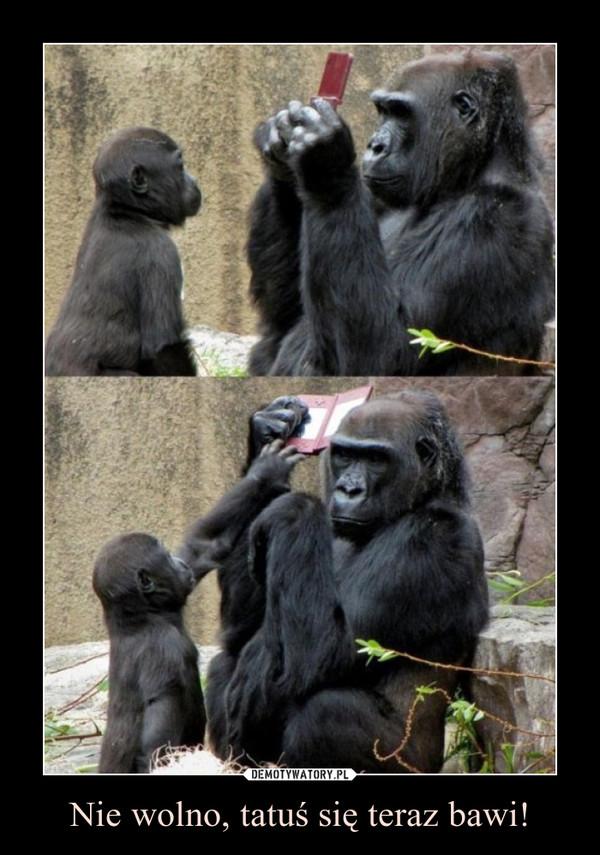Nie wolno, tatuś się teraz bawi! –
