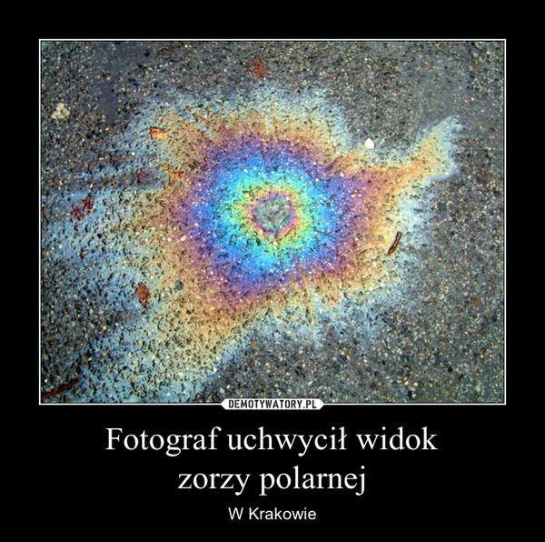 Fotograf uchwycił widokzorzy polarnej – W Krakowie