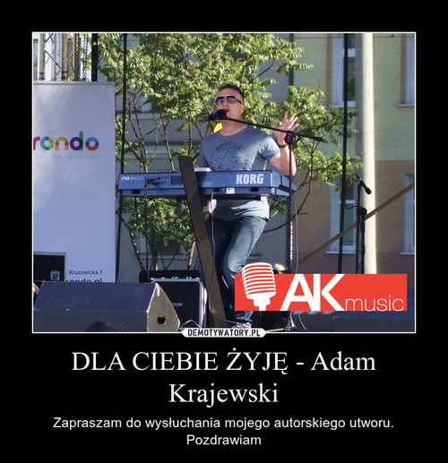 DLA CIEBIE ŻYJĘ - Adam Krajewski
